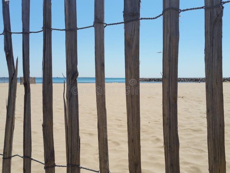 海滩篱芭 免版税库存照片