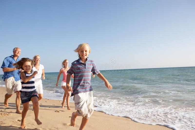 海滩系列生成纵向三 库存图片
