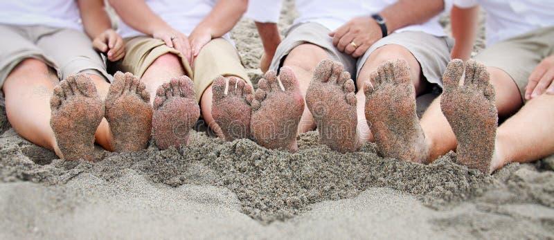 海滩系列英尺线路 库存图片