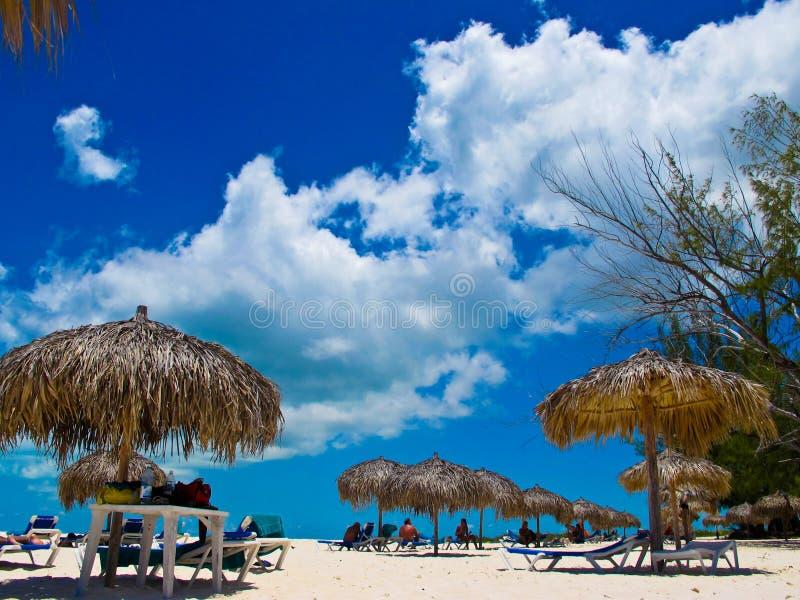 海滩缓慢地cayo古巴paraiso playa 图库摄影