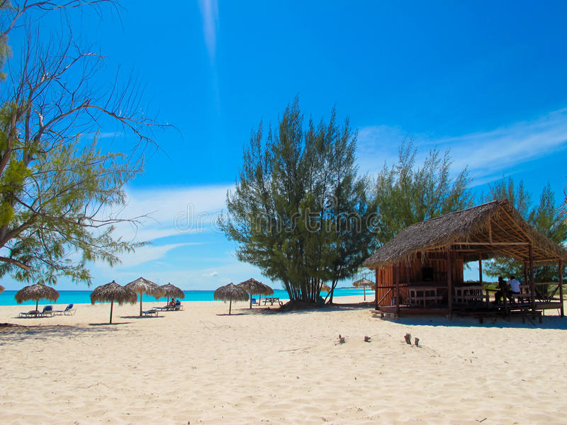 海滩缓慢地cayo古巴paraiso playa 库存图片