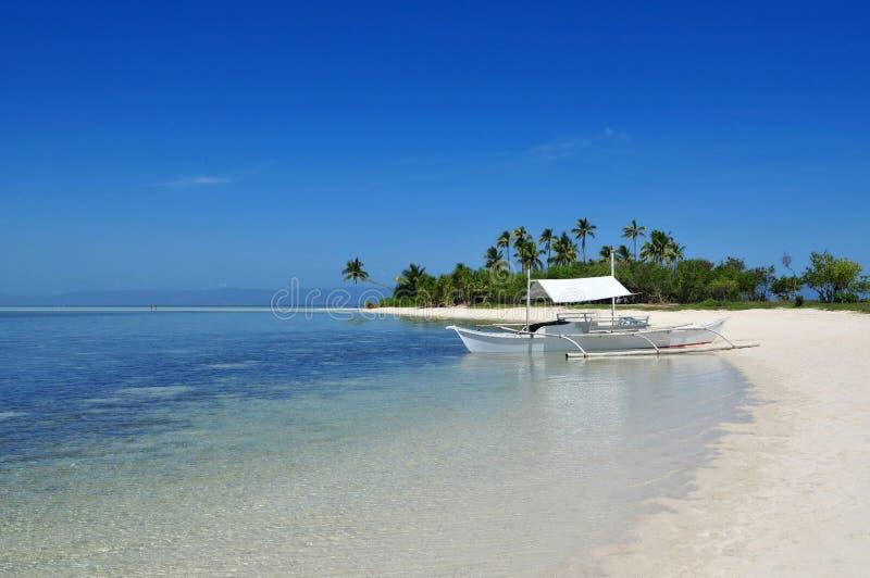 海滩美丽的海岛原始热带 图库摄影