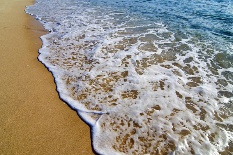 海滩美丽的通知 免版税库存照片