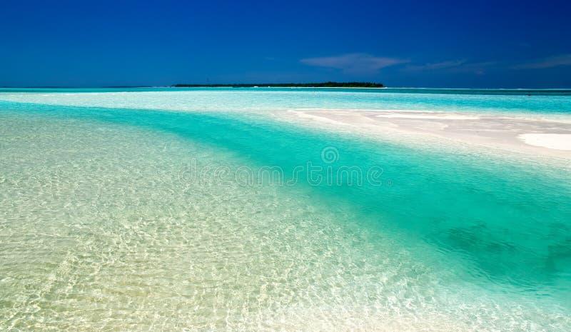 海滩美好的题头 库存图片