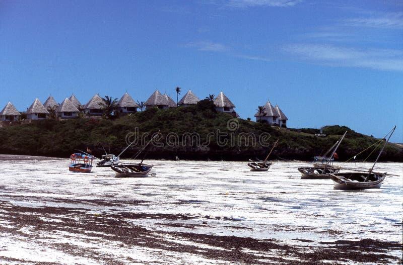 海滩肯尼亚 免版税库存图片