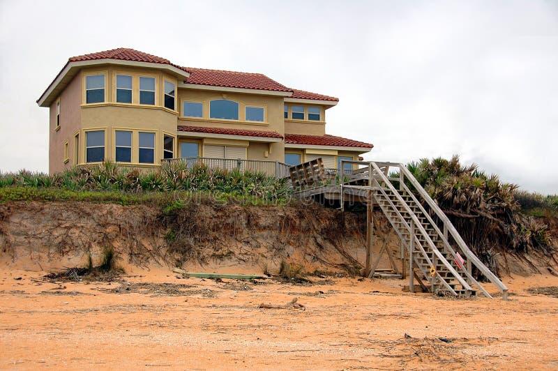 海滩腐蚀佛罗里达家 图库摄影