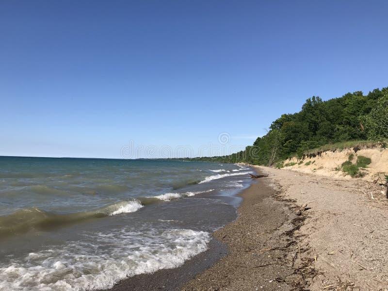 海滩英里 免版税库存图片