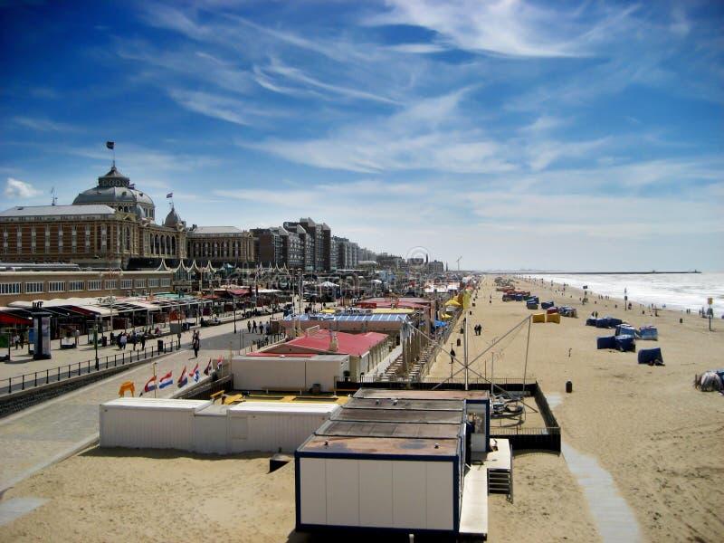 海滩荷兰scheveningen 免版税库存照片