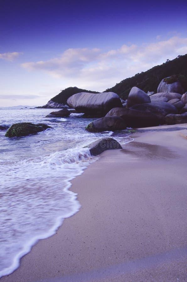 海滩蓝色时数 免版税库存图片