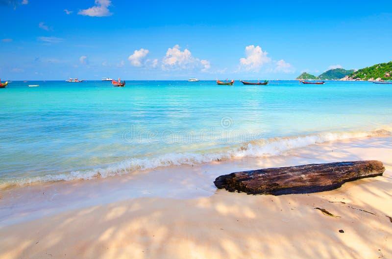 海滩蓝色海岛天空 免版税库存图片