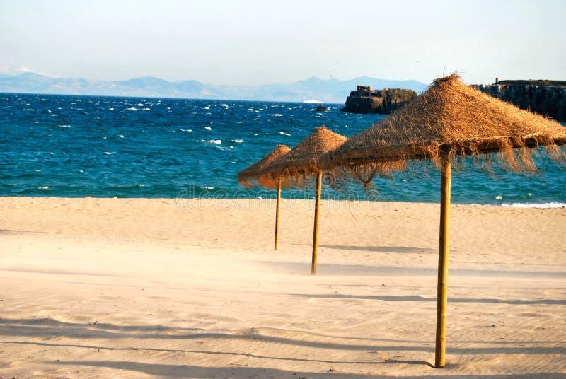 海滩西班牙tarifa 免版税库存图片