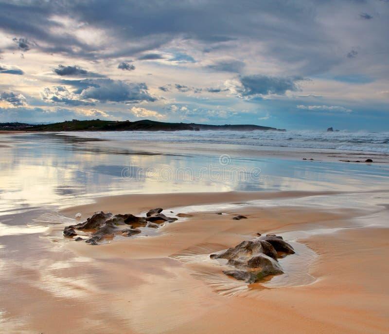 海滩西班牙valdearenas 库存照片