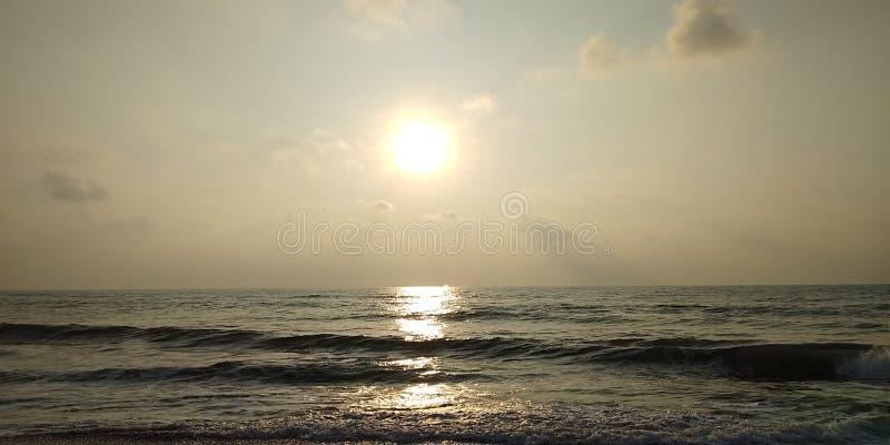 海滩视图 免版税图库摄影
