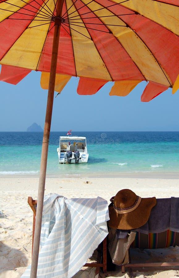 海滩视图 库存照片