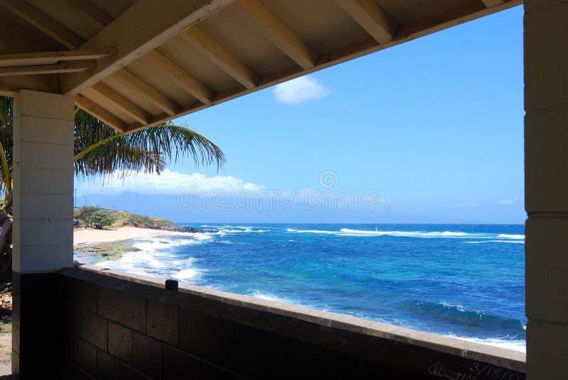 海滩详尽的视图 免版税库存照片