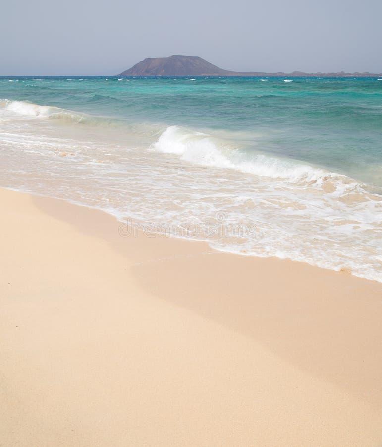 海滩费埃特文图拉岛沙子白色 图库摄影