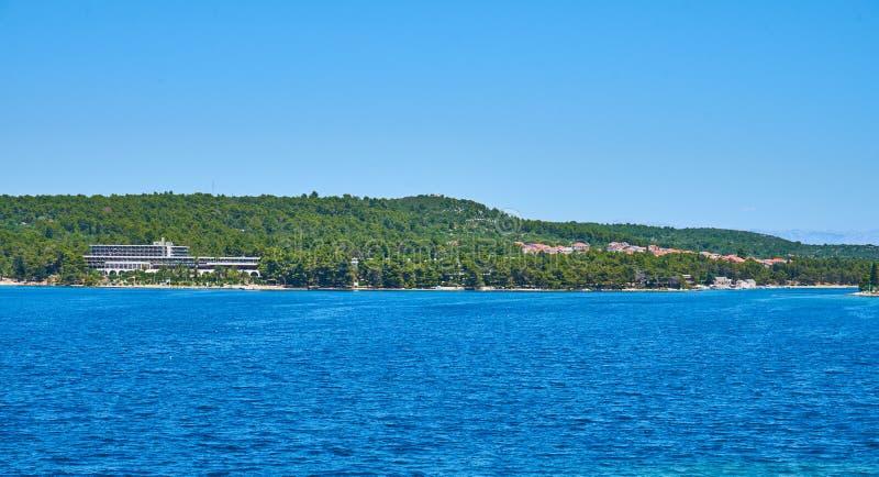 海滩赫瓦尔,克罗地亚 免版税库存照片