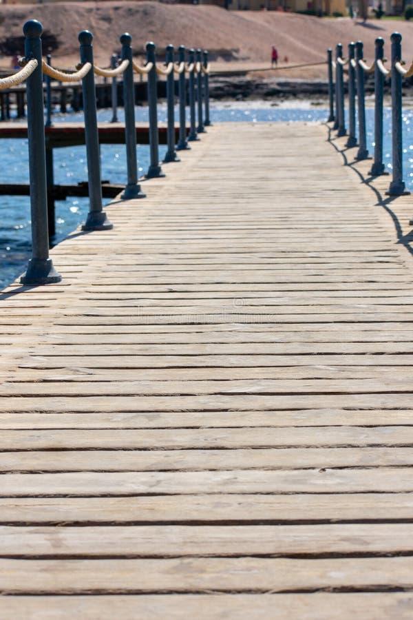 海滩走道散步,Coraya海湾,埃及 图库摄影