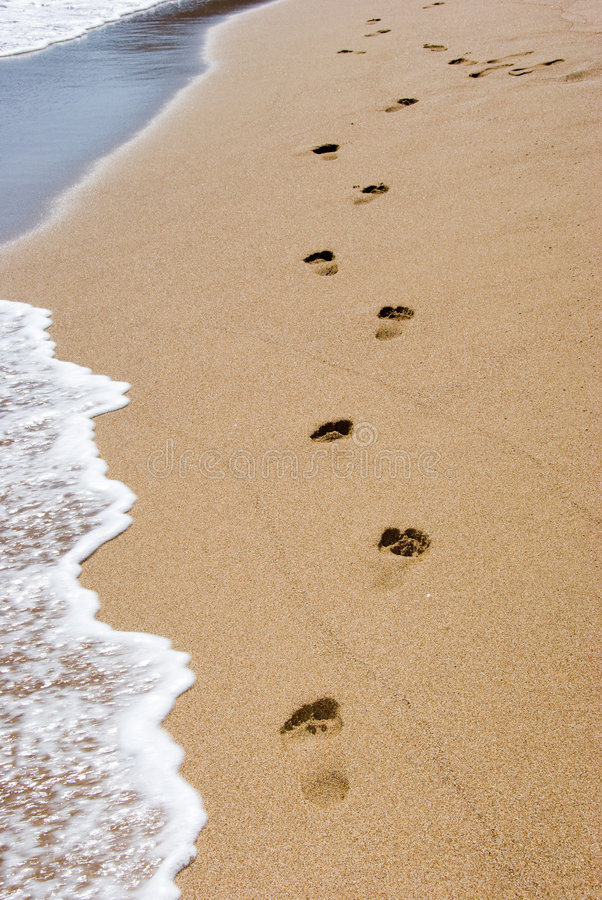 海滩走 免版税库存照片