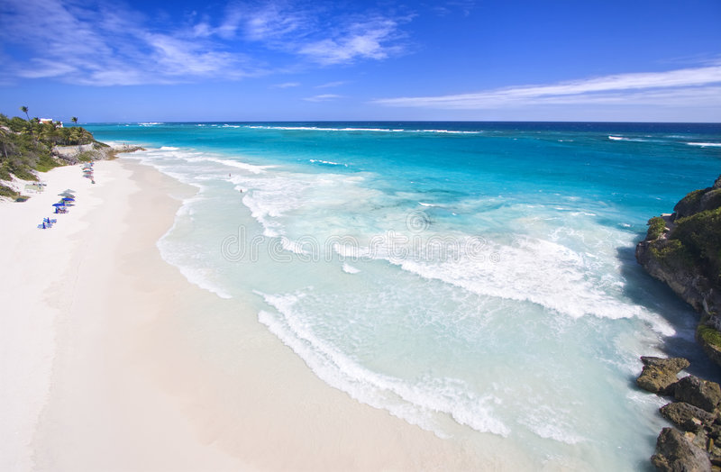 海滩起重机 免版税图库摄影