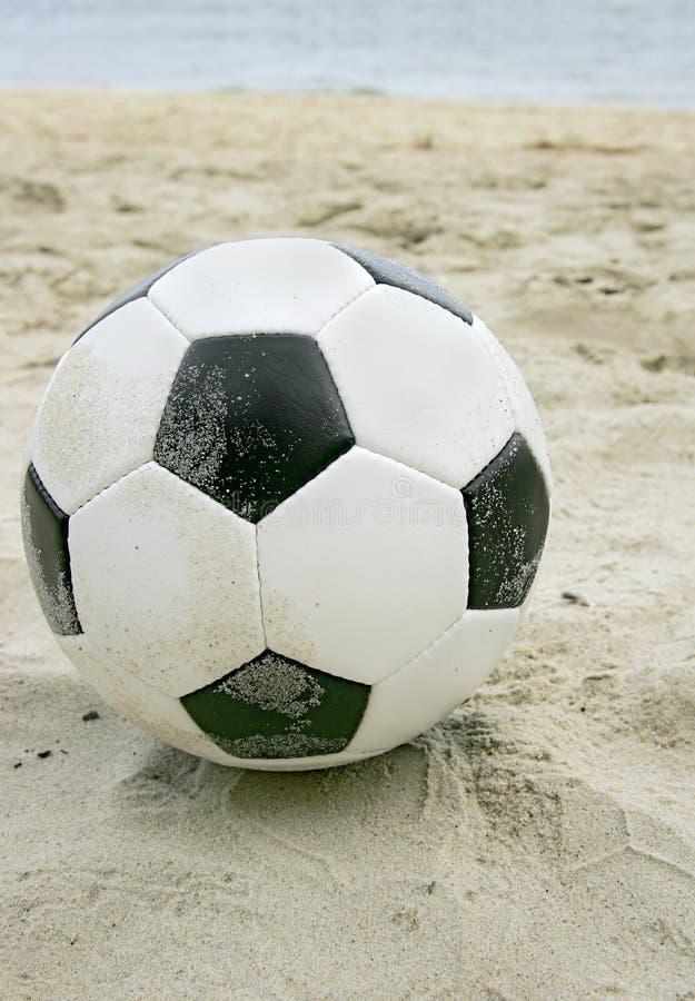 海滩足球 免版税图库摄影