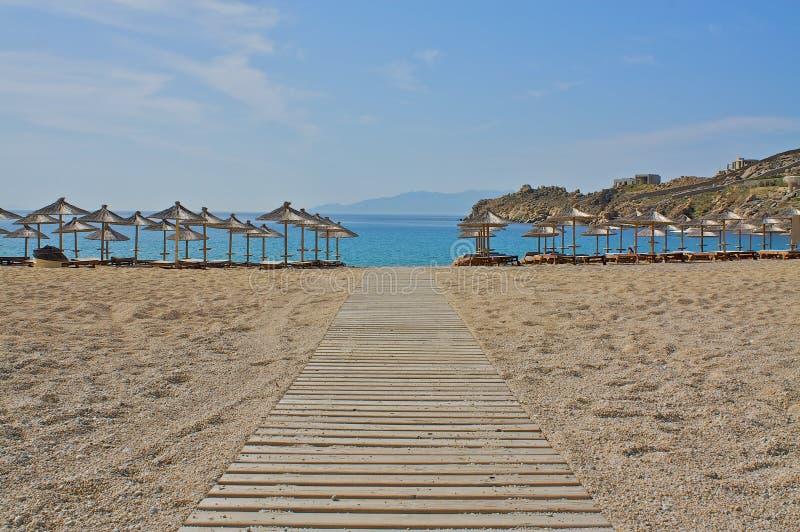 海滩路径 库存照片