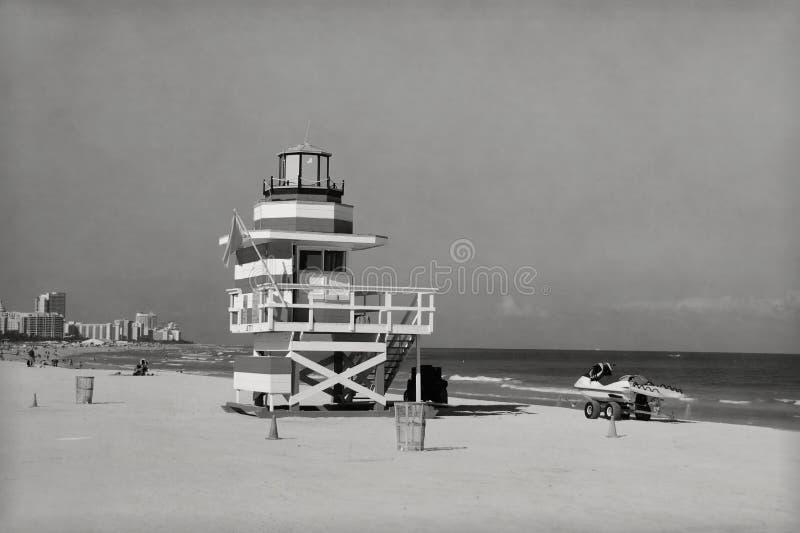 海滩迈阿密葡萄酒 免版税库存照片