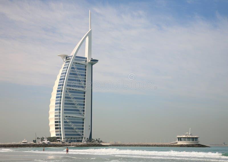 海滩迪拜jumeirah 库存照片