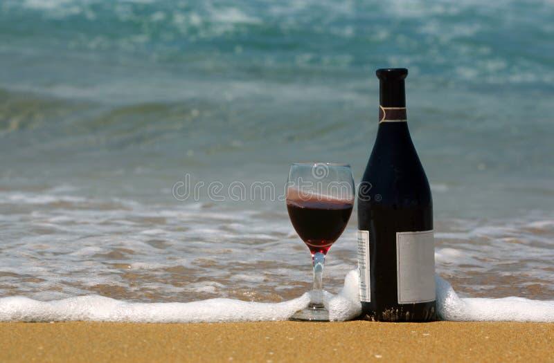 海滩酒 库存图片