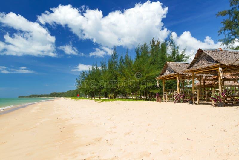 海滩酸值Kho Khao海岛的安达曼海 库存图片