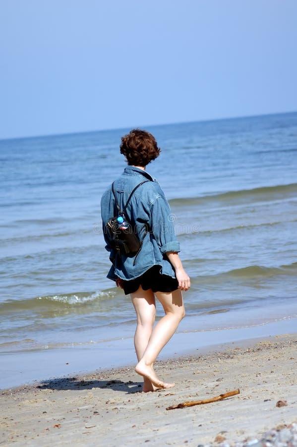 海滩重新创建 库存图片