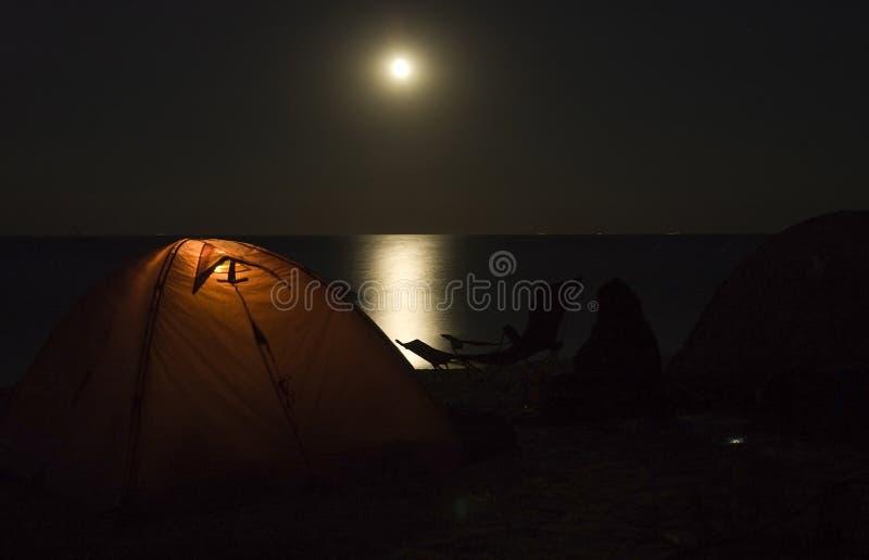 海滩野营 图库摄影