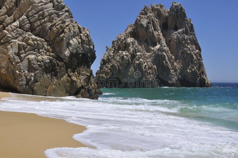 海滩镇静离婚 库存照片