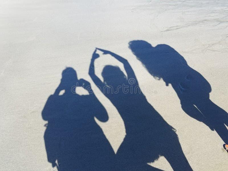 海滩阴影 图库摄影