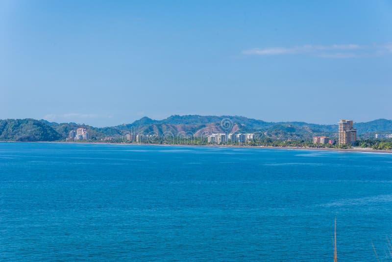 海滩雅科岛-哥斯达黎加的太平洋海岸 免版税库存照片