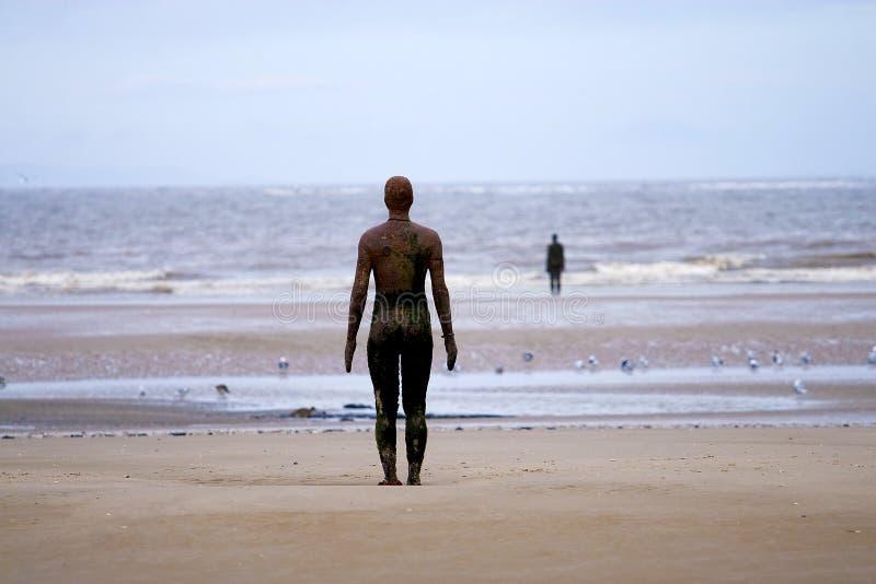 海滩雕象 免版税图库摄影