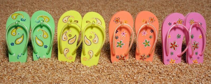 海滩鞋子 免版税库存图片
