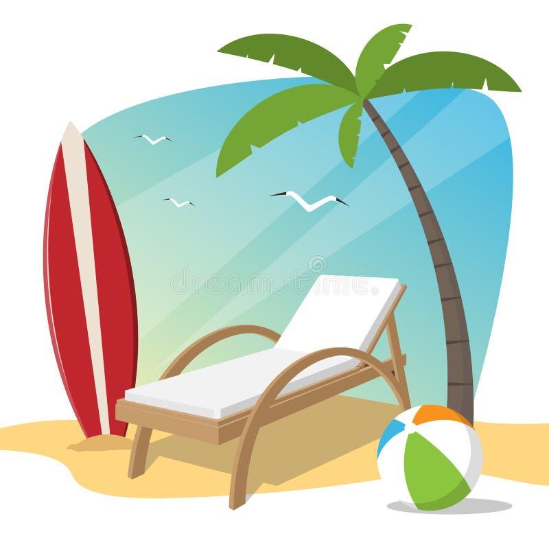 海滩项目的图象 r 库存例证