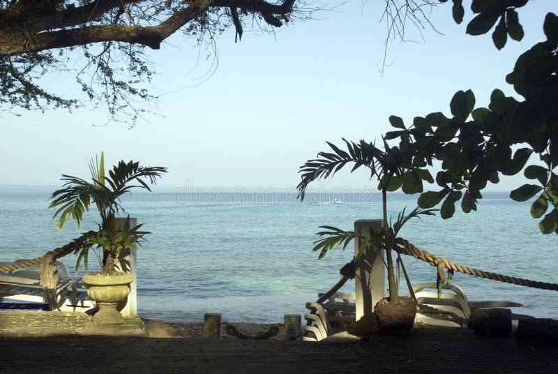 海滩项阳光 库存照片