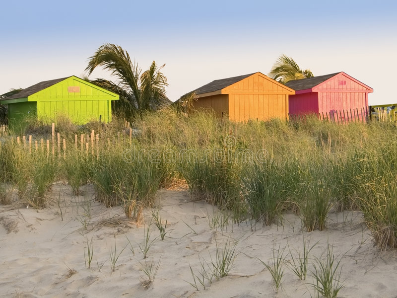 海滩颜色 免版税库存照片