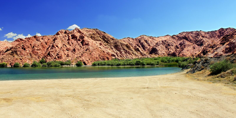 海滩风景内华达沙漠 免版税图库摄影
