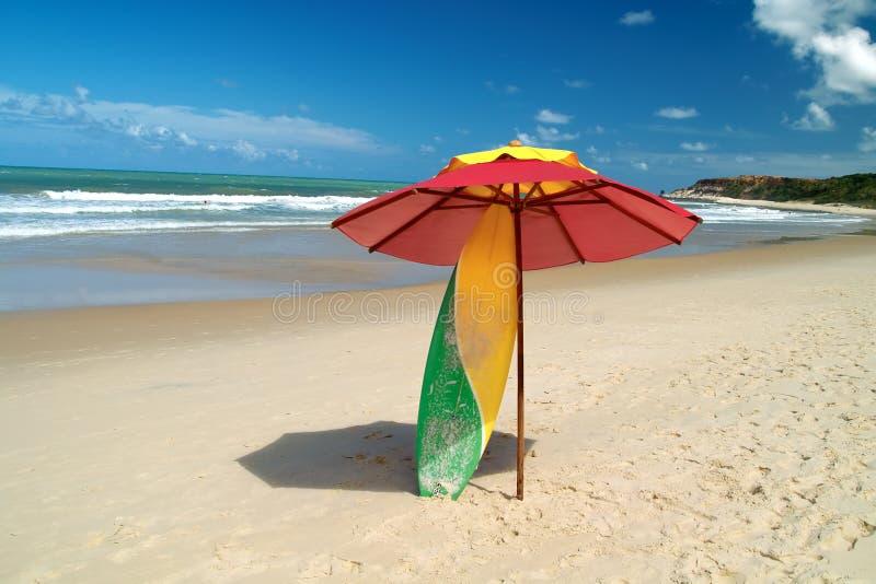 海滩风景的巴西 库存照片