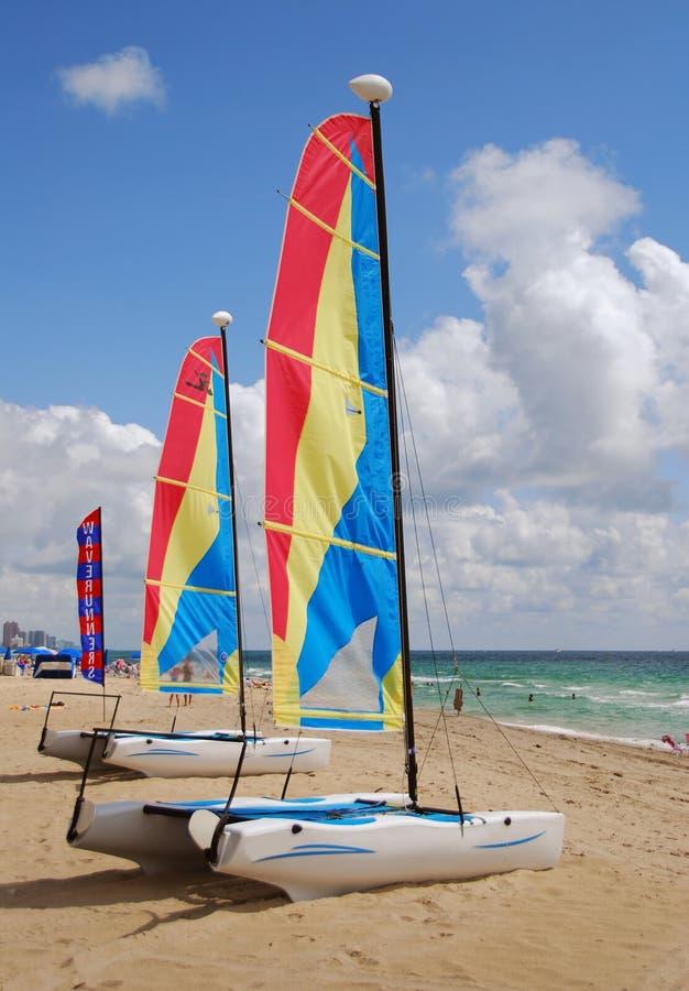 海滩风船 库存图片