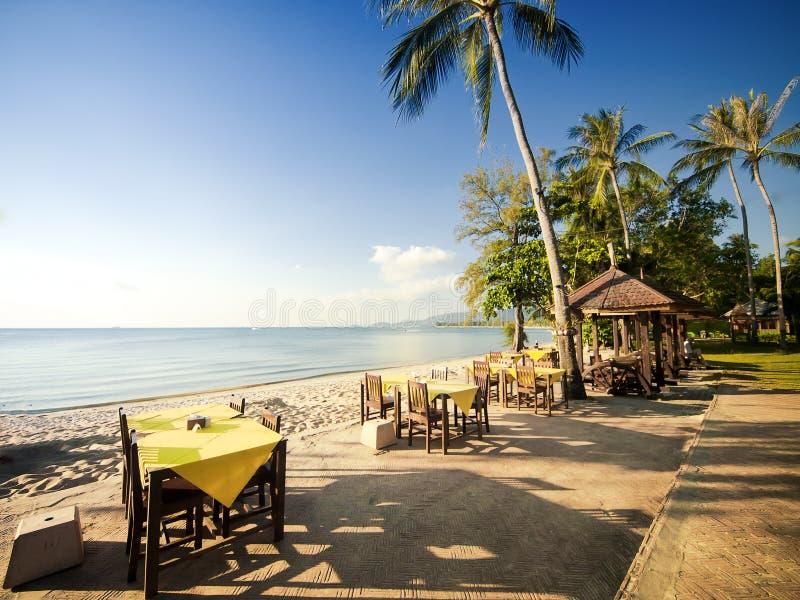 海滩餐馆 图库摄影