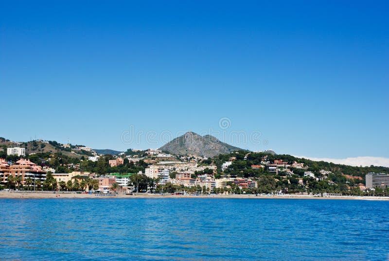 海滩马拉加 免版税库存图片
