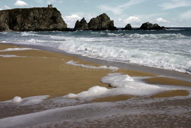 海滩黑海 免版税库存图片