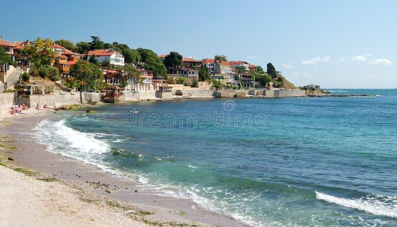 海滩黑色保加利亚nessebar海运 免版税库存照片