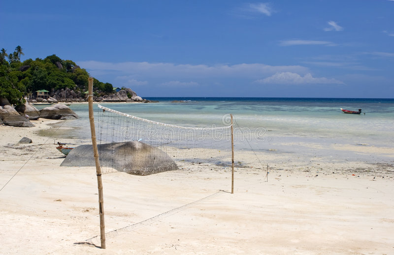 海滩齐射 图库摄影