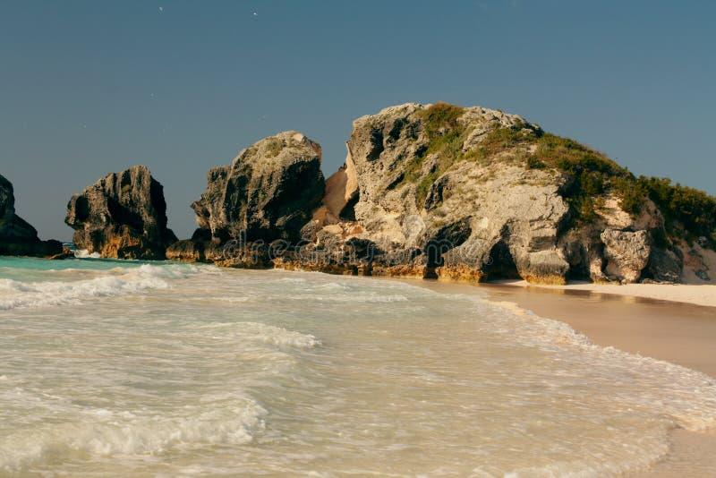 海滩bermuda1哈密尔顿马掌 免版税库存图片