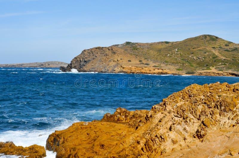 海滩binimela menorca 库存图片
